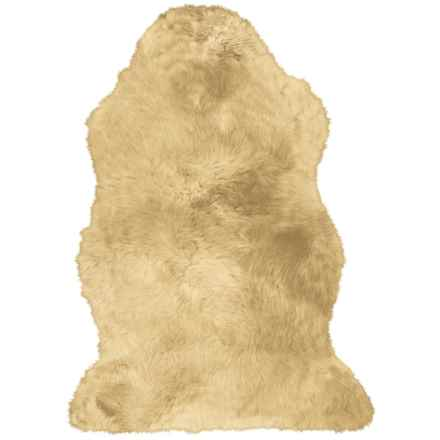 "Auskin Single-Pelt Longwool Sheepskin Rug- 39x25"" in Wheat - Overstock"