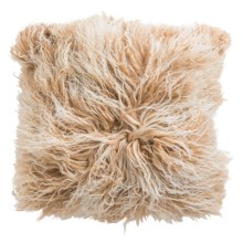 "Auskin Tibetan-Mongolian Pillow - 16x16"" in Sand - Closeouts"