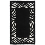 Auskin Zebra Designer Sheepskin Rug - Rectangular, 6x9'