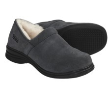 Aussie Dogs Bitsy Shearling-Lined Clogs (For Women) in Charcoal - Closeouts