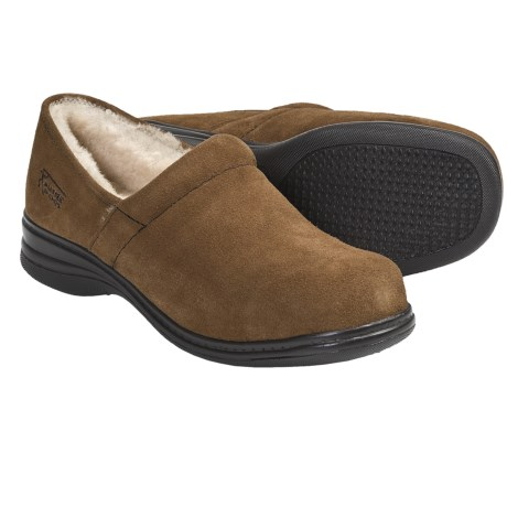 Aussie Dogs Bitsy Shearling-Lined Clogs (For Women) in Charcoal