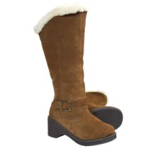 Aussie Dogs Duchess Leather Boots - Shearling Lined (For Women) in Cocoa - Closeouts