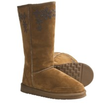 Aussie Dogs Groovster Sheepskin Boots (For Women) in Cocoa - Closeouts