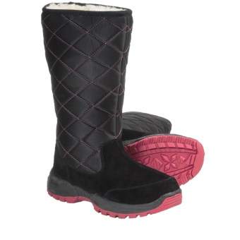 Aussie Dogs Sleeper Suede Shearling-Lined Boots (For Women) in Black
