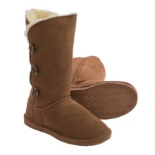 Aussie Dogs Sophia 3-Button Sheepskin Boots (For Women) in Chestnut - Closeouts