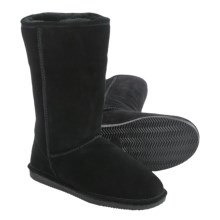 """Aussie Dogs Tali Sheepskin Boots - 12"""" (For Men and Women) in Black - Closeouts"""