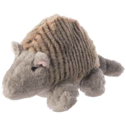 Aussie Naturals Armadillo Plush Squeaker Dog Toy in See Photo - Closeouts