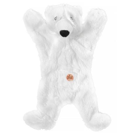 Aussie Naturals Biggie Polar Bear Dog Toy - Squeaker, Stuffing Free in Polar Bear