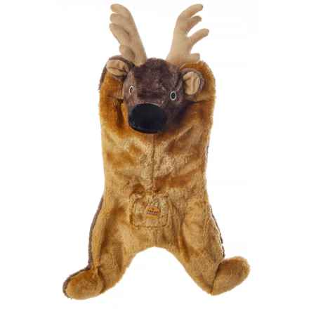 Aussie Naturals Biggie Reindeer Dog Toy - Squeaker in Tan - Closeouts