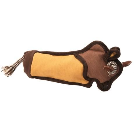 Aussie Naturals Brawnie Bison Water Bottle Dog Toy - Squeaker in See Photo