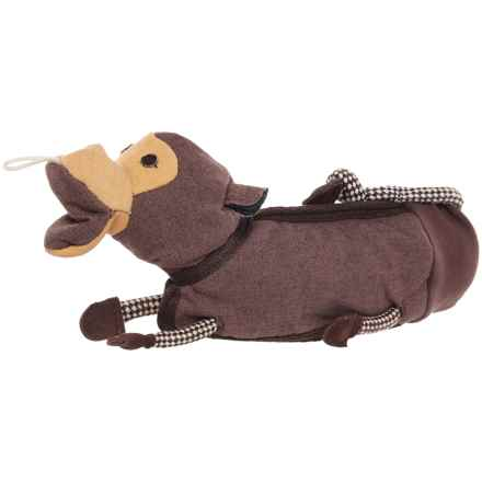 Aussie Naturals Brawnie Monkey Water Bottle Dog Toy - Squeaker in See Photo - Closeouts