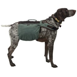 Aussie Naturals Canvas Dog Backpack - Large in Green/Brown