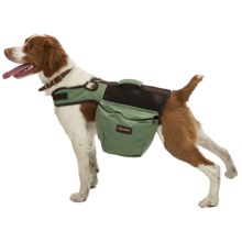 Aussie Naturals Canvas Dog Backpack - Medium in Green/Brown - Closeouts