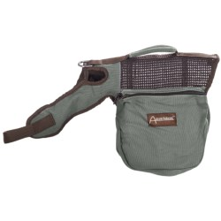 Aussie Naturals Canvas Dog Backpack - Small in Green/Brown