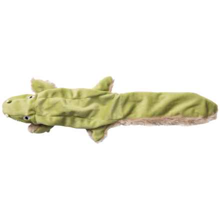 Aussie Naturals Floppie Crocodile Dog Toy - Stuffing Free in See Photo - Closeouts