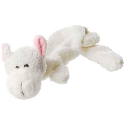 Aussie Naturals Lobbie Lamb Dog Toy - Squeaker, Stuffing Free in White - Closeouts