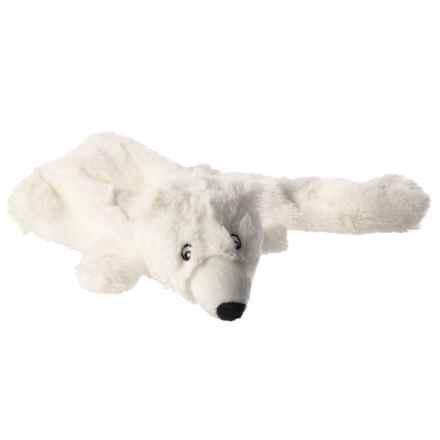 Aussie Naturals Lobbie Polar Bear Dog Toy - Squeaker in White - Closeouts
