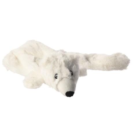 Aussie Naturals Lobbie Polar Bear Dog Toy - Squeaker in White