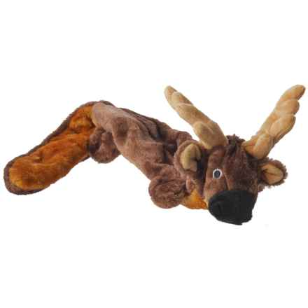 Aussie Naturals Lobbie Reindeer Dog Toy - Squeaker in Tan - Closeouts