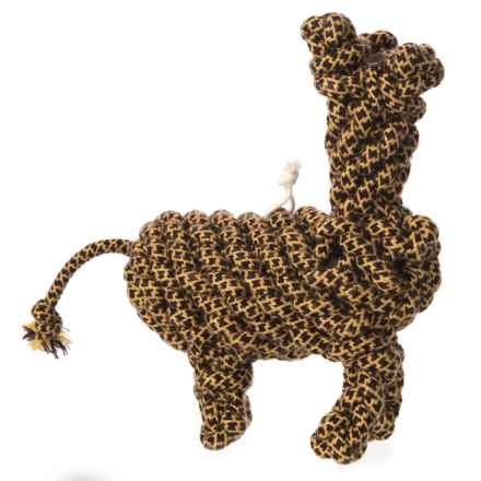 Aussie Naturals Outback Jack Wooley Giraffe Dog Toy - Cotton Rope in Tan/Brown - Closeouts
