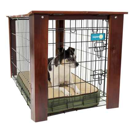 "Aussie Naturals Stained Wood Crate Cover - Medium, 30x19x21"" in See Photo - Closeouts"