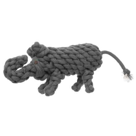 Aussie Naturals Wooly Rope Elephant Dog Toy in Grey - Closeouts