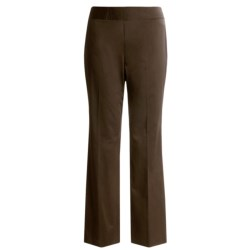 Austin Reed Cotton Pants - Plus Size, Flat Front (For Women) in Brown