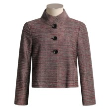 Austin Reed Silk-Rich Jacket - Pinterton Weave (For Women) in Tulip - Closeouts