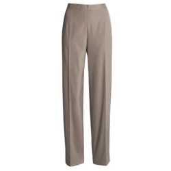 Austin Reed Stretch Gab Pants - Nicole Fit, Stitch Detail (For Women) in Mushroom