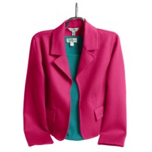 Austin Reed Wool Plush Jacket - Notch Collar (For Women) in Hot Pink - Closeouts