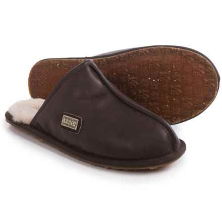 Australia Luxe Collective Closed Mule Slippers - Leather, Shearling Lined (For Men) in Beva - Closeouts