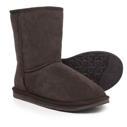 Australia Luxe Collective Cosy Short Boots - Suede, Sheepskin Lined (For Men) in Beva - Closeouts