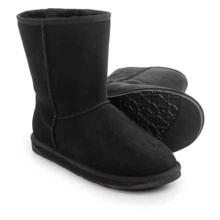 Australia Luxe Collective Cosy Short Boots - Suede, Sheepskin Lined (For Men) in Black - Closeouts