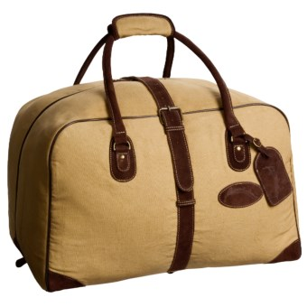 Australian Bag Outfitters Brumby Duffel Bag - Canvas, Leather Trim in Tan