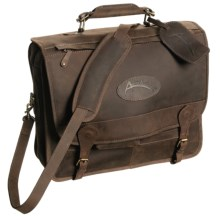 Australian Bag Outfitters Cobber Messenger Bag - Leather in Chocolate Brown - Closeouts