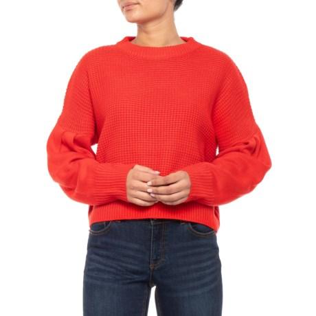 Image of Australian Designer Cropped Knit Sweater (For Women)