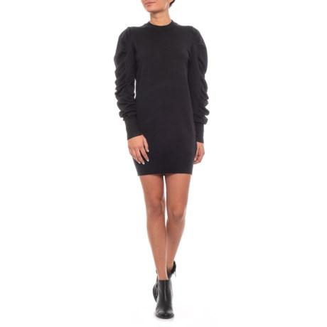 Image of Australian Designer Puffy Sleeve Knit Dress - Long Sleeve (For Women)