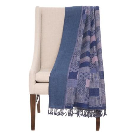 Image of Australian Merino Wool Patchwork Throw Blanket - 52x75?