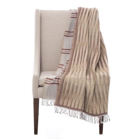 Image of Australian Merino Wool Tribal Plaid Throw Blanket - 52x75?
