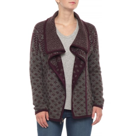 Image of Autumn Pine Cardigan Sweater - Zip Front (For Women)