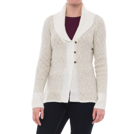 Image of Autumn Rose Shawl-Collar Cardigan Sweater (For Women)