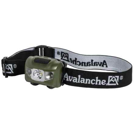 Avalanche 3-LED Headlamp - 60 Lumens in Green - Closeouts