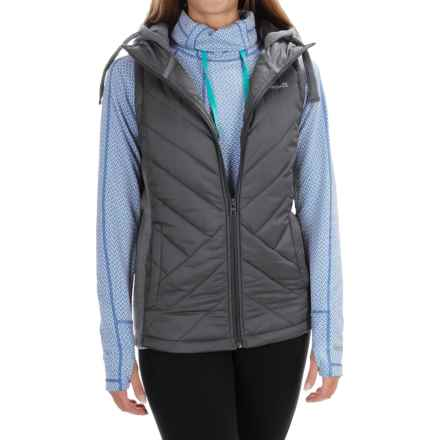 Avalanche Arctic Hybrid Vest - Hooded, Insulated (For Women) in Asphalt/Quicksilver - Closeouts