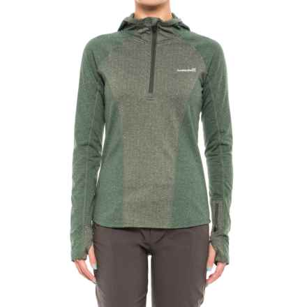 Avalanche Astra Hoodie - Zip Neck (For Women) in Deep Forest/Deepforest Herringbone - Closeouts