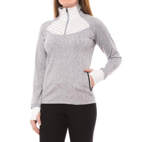 Avalanche Balia Shirt - Zip Neck, Long Sleeve (For Women) in Lunar Rock