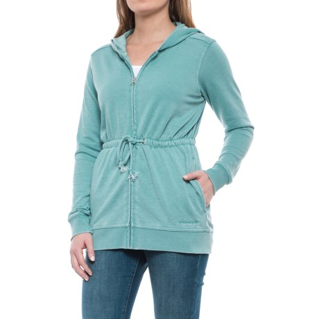 Avalanche Bandera French Terry Hoodie (For Women) in Aquifer