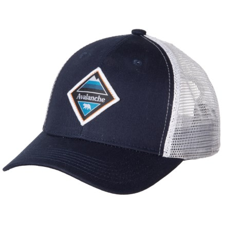 04fe97cf Avalanche Bear Patch Trucker Hat (For Men) in Navy - Closeouts