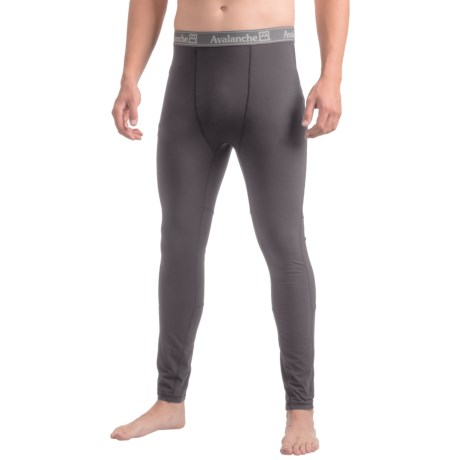 Avalanche Blanc Base Layer Tights (For Men) in Asphalt