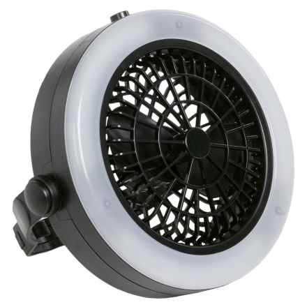 Avalanche Camping 12-LED Lighted Camping Fan in Black - Closeouts