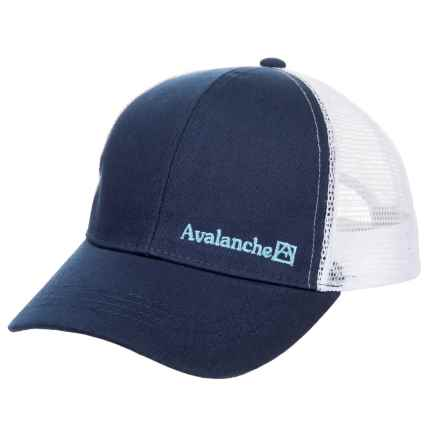 Avalanche Canvas Embroidered Uncle Trucker Hat (For Boys) in Navy - Closeouts